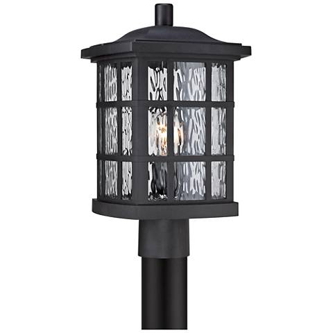 "Quoizel Stonington 16 1/2""H Matte Black Outdoor Post Light"