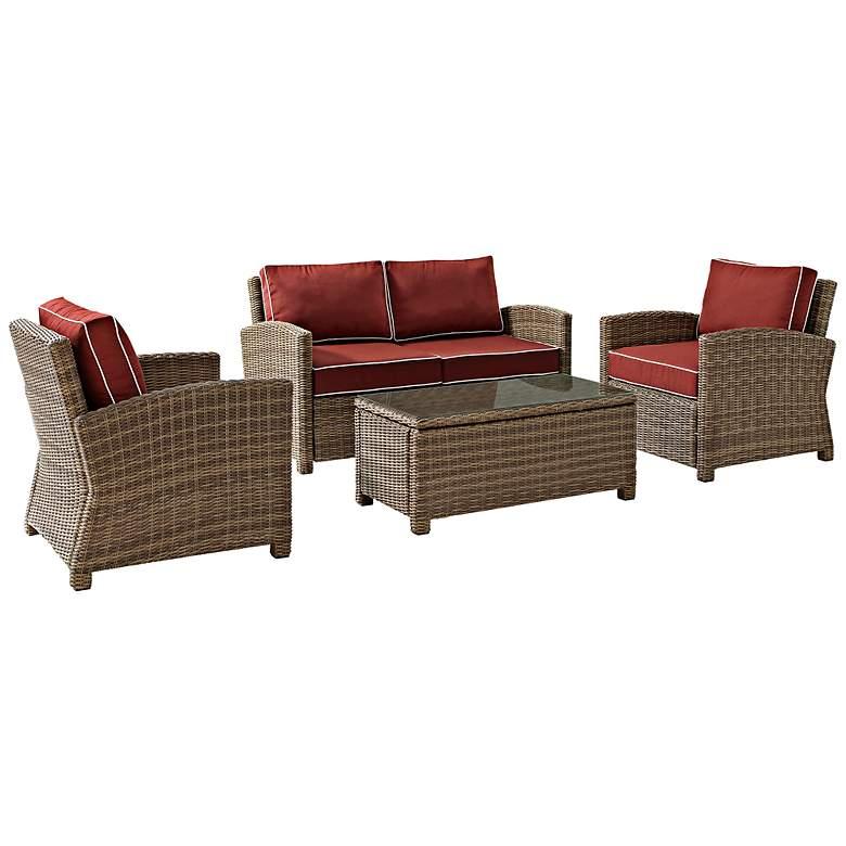 Bradenton 4-Piece Wicker Sangria Outdoor Seating Set