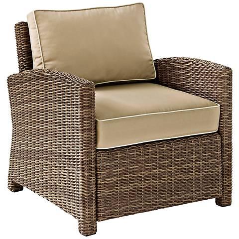 Bradenton Rattan Wicker Sand Cushion Outdoor Armchair
