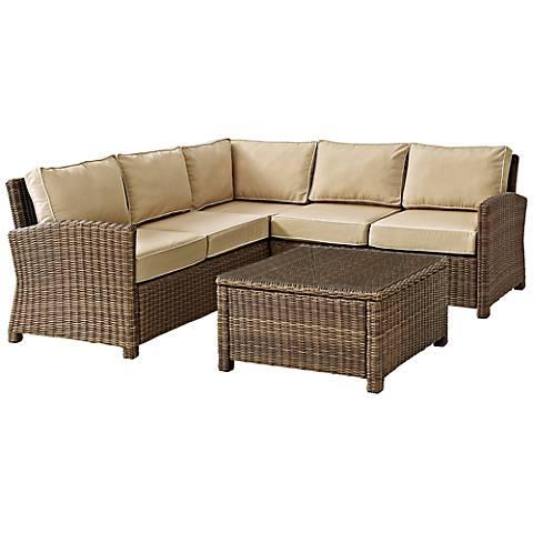 Bradenton 4-Piece Outdoor Sand Sectional Seating Set
