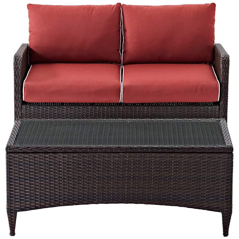 Kiawah Sangria 2-Piece Outdoor Wicker Seating Set
