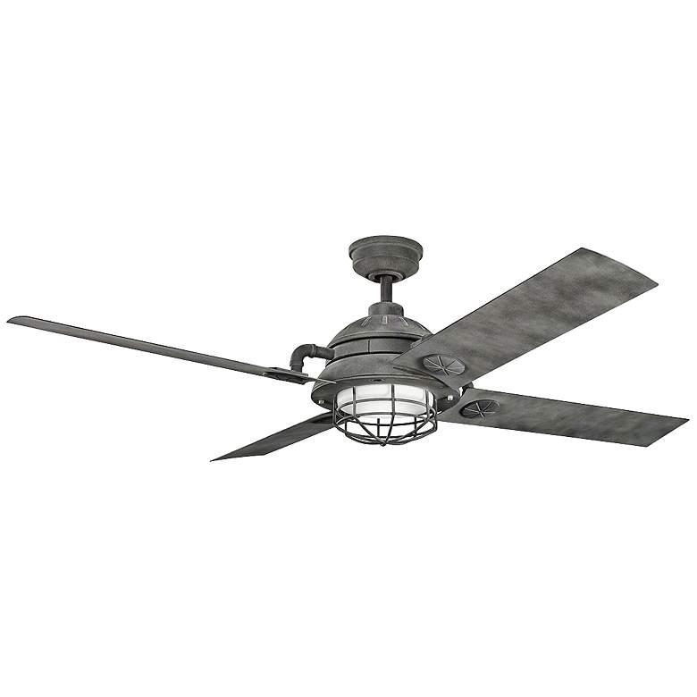 "65"" Kichler Maor LED Weathered Zinc Ceiling Fan"