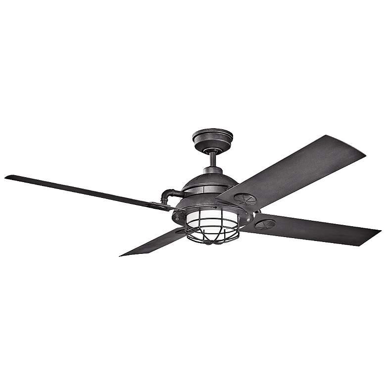"65"" Kichler Maor LED Distressed Black Ceiling Fan"