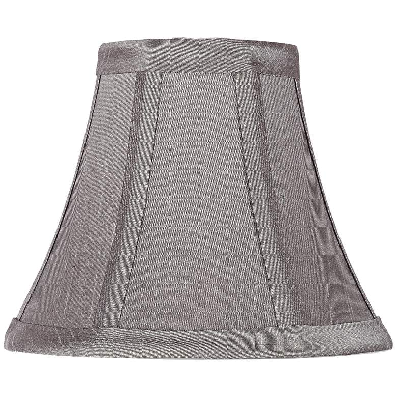 Pewter Gray Bell Lamp Shade 3x6x5 (Clip-On)