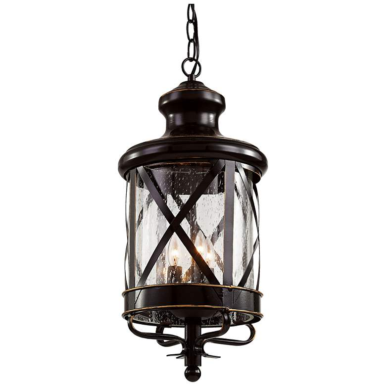 """New England 25 1/4""""H Oil-Rubbed Bronze Outdoor Hanging Light"""