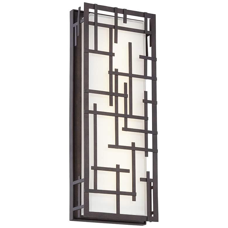 """Modern Lines 16 1/4"""" High Bronze LED Outdoor Wall Light"""