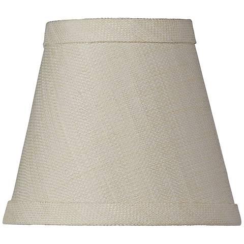 Cream Linen Blend Hardback Shade 3.25x5.5x5 (Clip-On)