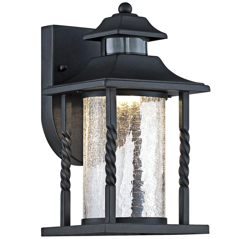 "Westray 11 1/2""H Black Motion Sensor LED Outdoor Wall Light"