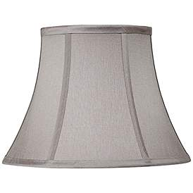 Pewter Gray Bell Lamp Shade 7x12x9 Spider