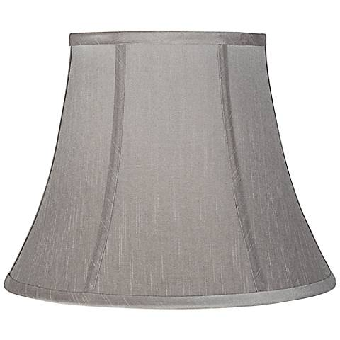 Pewter gray bell lamp shade 8x14x11 spider 7k766 lamps plus pewter gray bell lamp shade 8x14x11 spider aloadofball Image collections