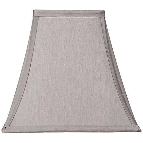 Pewter Gray Square Shade 5 25x10x9 5 Spider 7k778 Lamps Plus