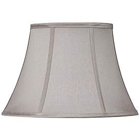 Pewter Gray Oval Lamp Shade 7 9x13 15x10 5 Spider