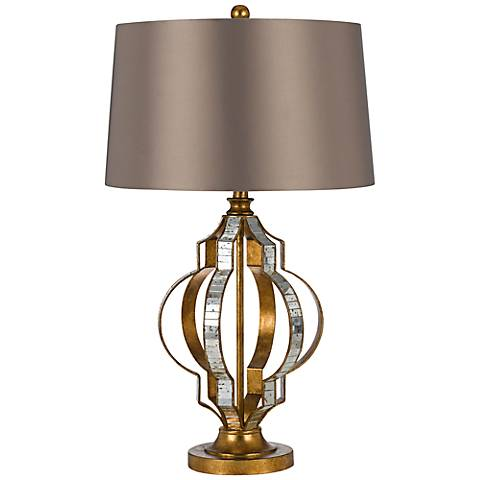 Passe Mirrored French Gold Table Lamp