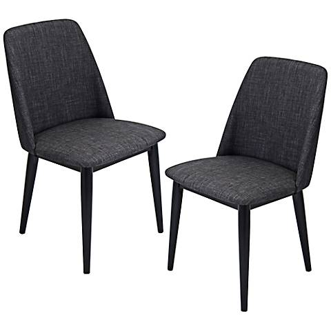 Tintori Charcoal Modern Dining Chair Set of 2