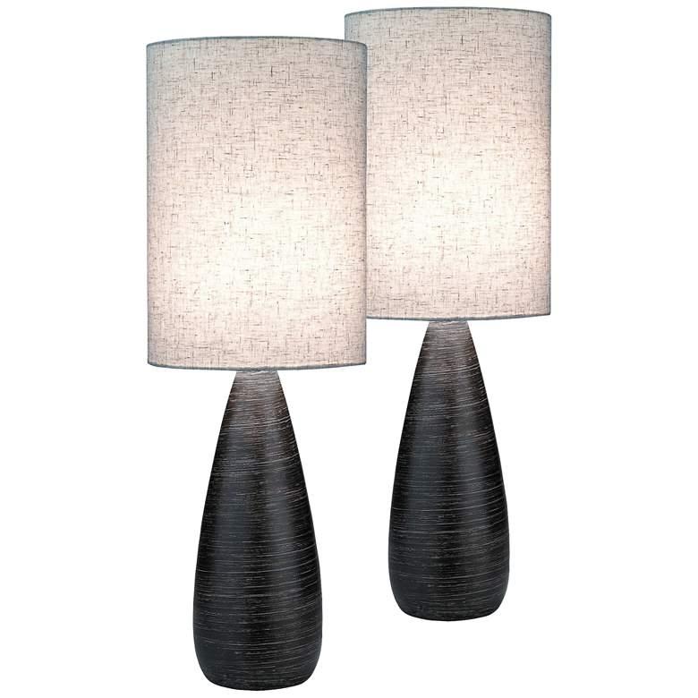 Lite Source Quatro Dark Bronze Large Table Lamp