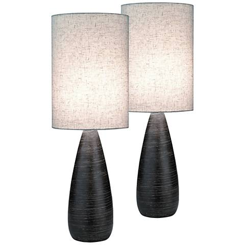 Lite Source Quatro Dark Bronze Large Table Lamp Set of 2