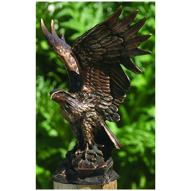 "Henri Studios Eagle Bronze 10"" High Cast Brass"