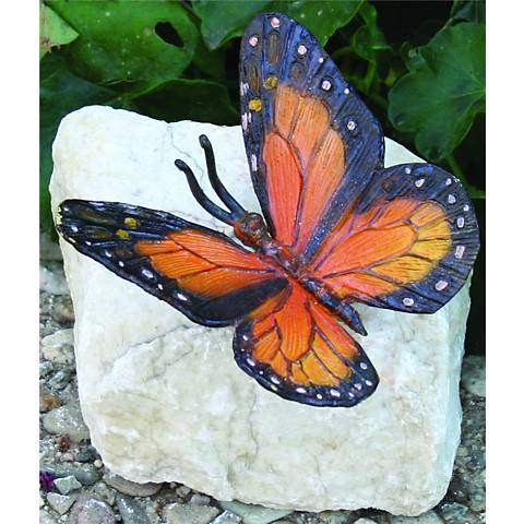 Henri Studios Monarch Butterfly Garden Accent Set of 4