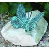 "Henri Studios Verde Butterfly 4"" High Garden Accent Set of 4"