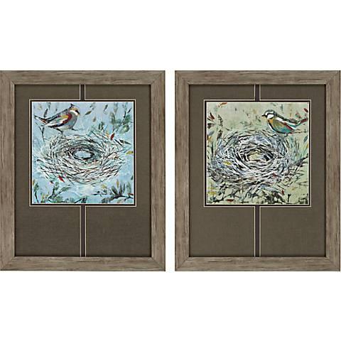 """Home Sweet Home 2-Piece 23"""" High Framed Wall Art Set"""