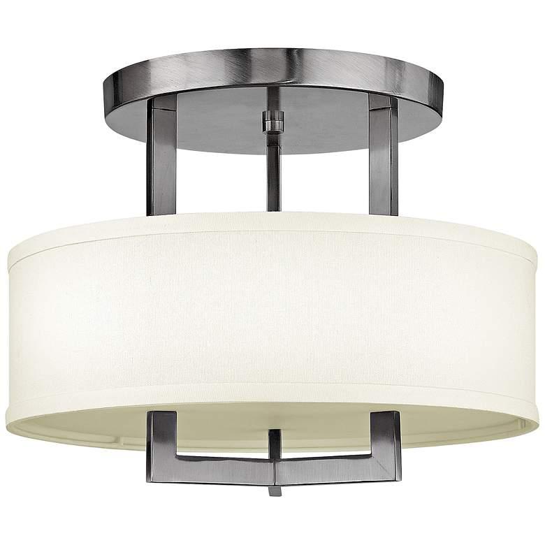 "Hinkley Hampton 15"" Wide Antique Nickel Ceiling Light"