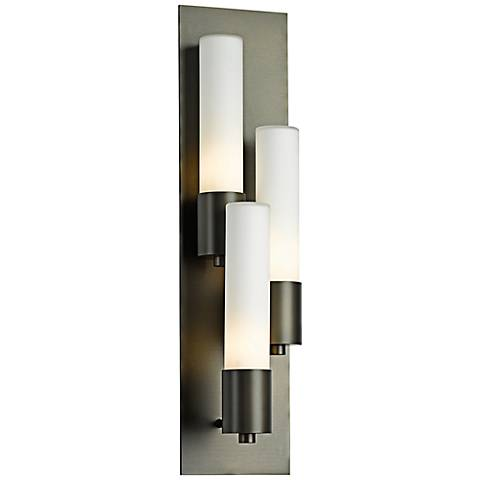 "Hubbardton Forge Pillar 21 1/2"" High Bronze Wall Sconce"