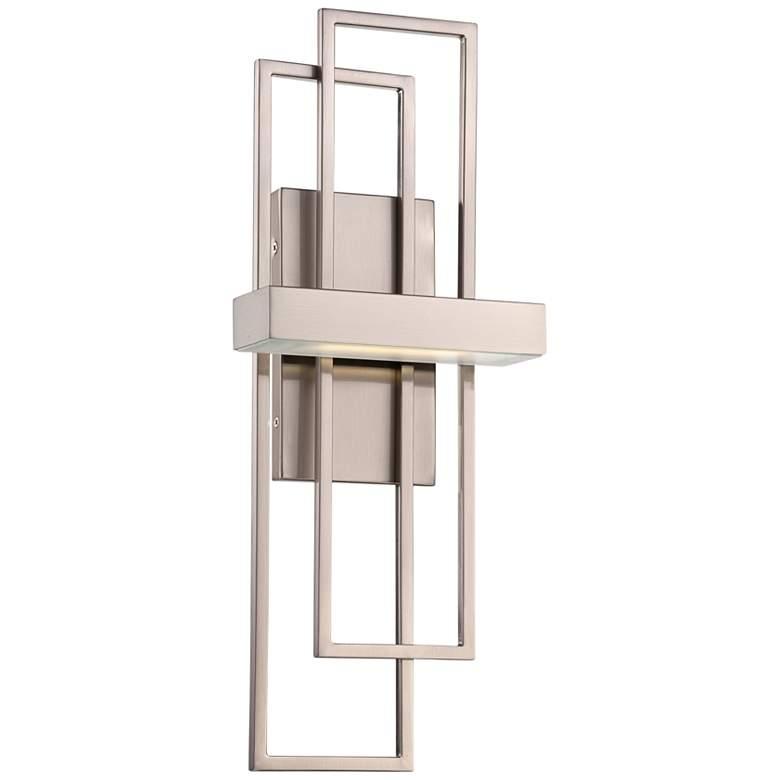 "Frame 20 1/4"" High Brushed Nickel LED Wall Sconce"