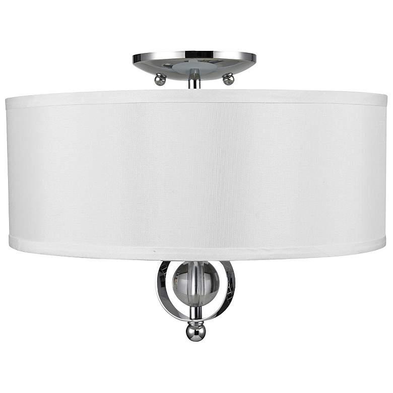 """Cerchi 15"""" Wide Chrome Drum Ceiling Light"""