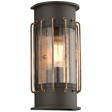 "Cabot 14""H Bronze and Historic Brass Outdoor Wall Light"