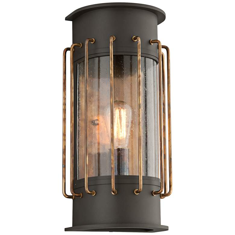 """Cabot 17""""H Bronze and Historic Brass Outdoor Wall Light"""