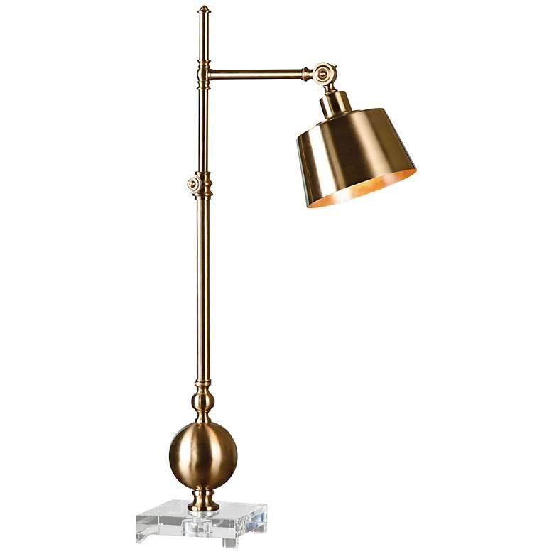 Uttermost Laton Brushed Brass Task Desk Lamp