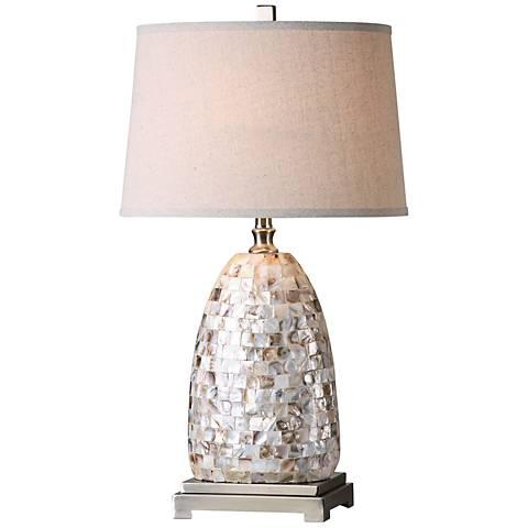 Uttermost Capurso Capiz Shell Tiles Table Lamp