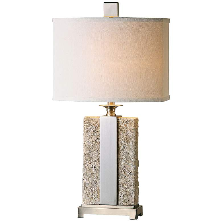 Uttermost Bonea Stone Ivory Table Lamp