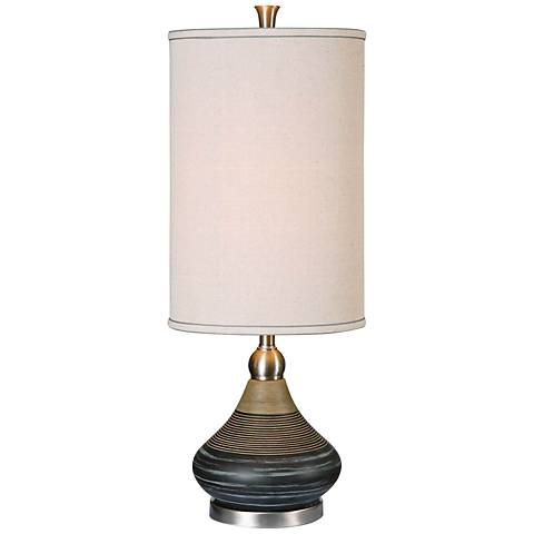 Uttermost Warley Aged Black Ceramic Table Lamp