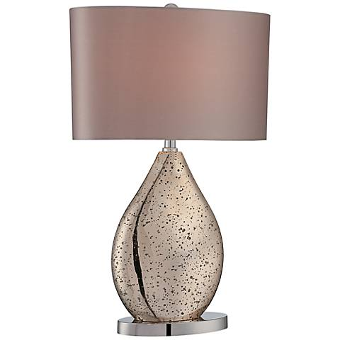 Lite Source Mandalay Gold Speckled Glass Table Lamp