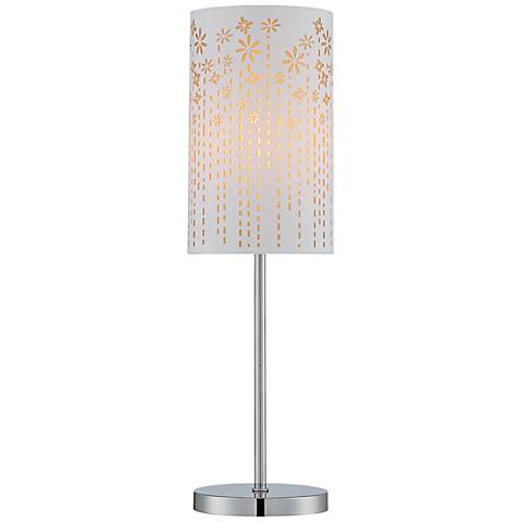 Lite Source Poppy Chrome Laser-Cut Gold Table Lamp