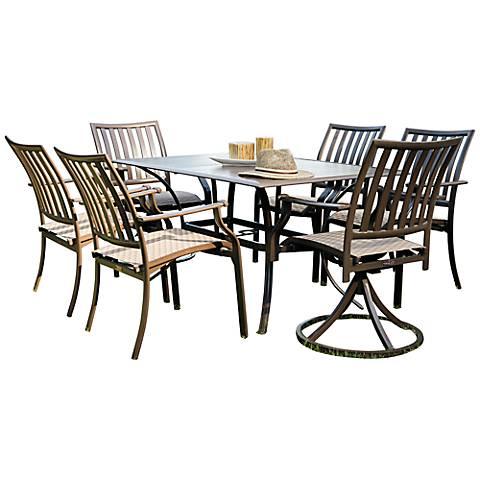 Panama Jack Island Breeze 7-Piece Patio Swivel Dining Set