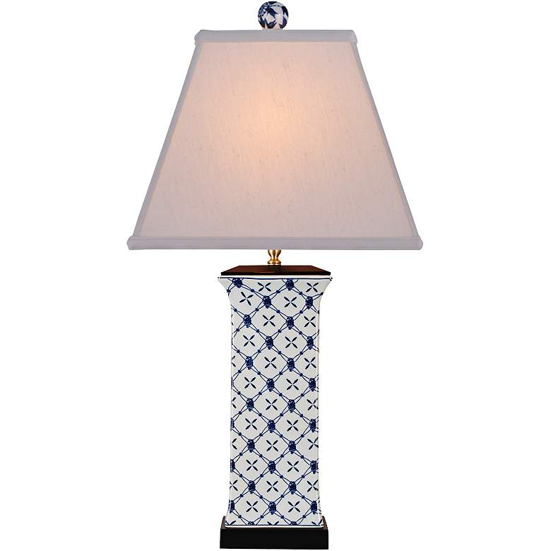 Galway Blue and White Porcelain Table Lamp