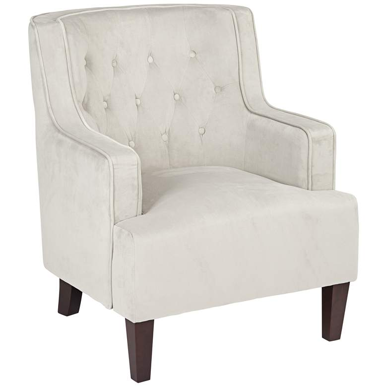 Klaussner Rebecca Belsire Gray Upholstered Accent Chair