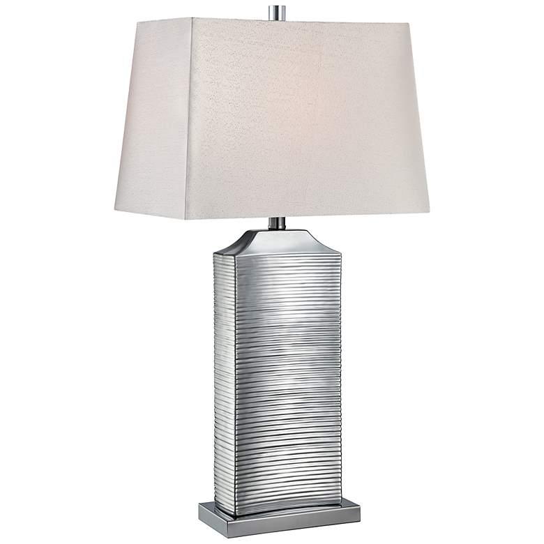 Lite Source Adora Chrome Ceramic Table Lamp