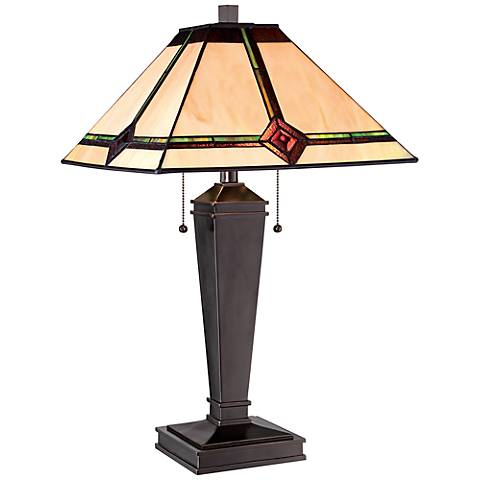 Lite Source Karysa Tiffany Glass Bronze Table Lamp