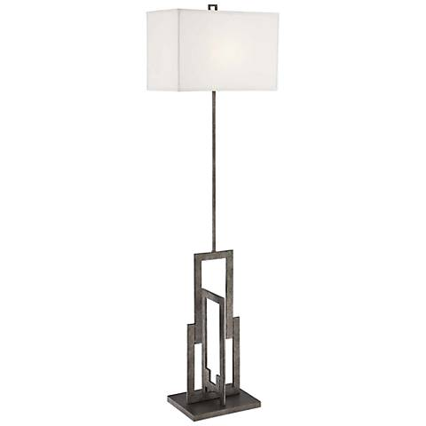 Lite Source Mireya Antique Silver Floor Lamp