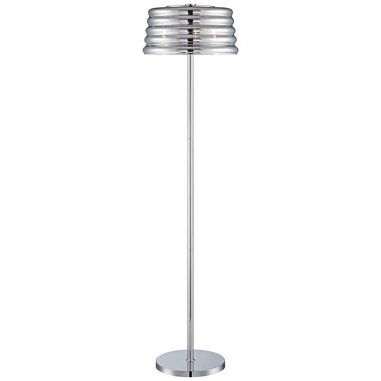 Lite Source Venice 3-Light Chrome Floor Lamp