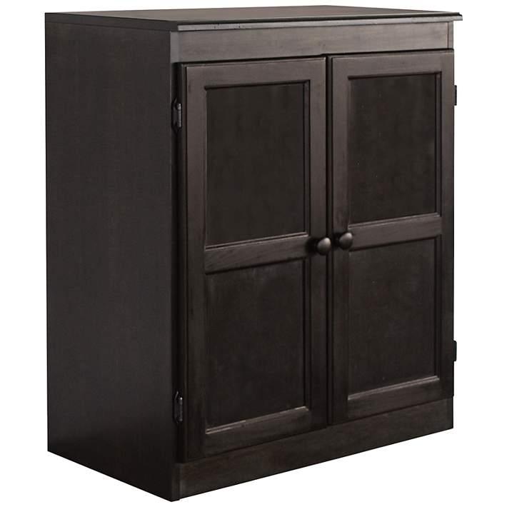 Wide Espresso 2 Door Storage Cabinet