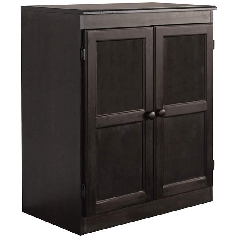 """Hunkel 30"""" Wide Espresso 2-Door Storage Cabinet"""