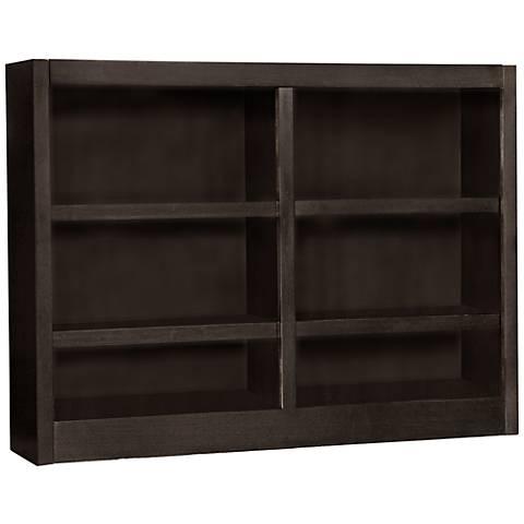 Grundy Espresso Double-Wide 6-Shelf Bookcase
