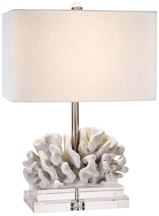 Merveilleux Couture Elkhorn White Coral Table Lamp