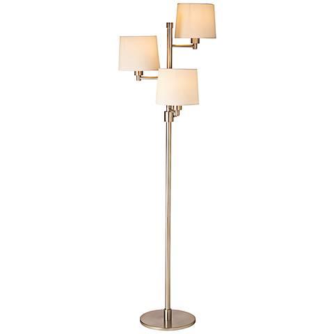 Cedric Satin Nickel 3 Light Metal Floor Lamp