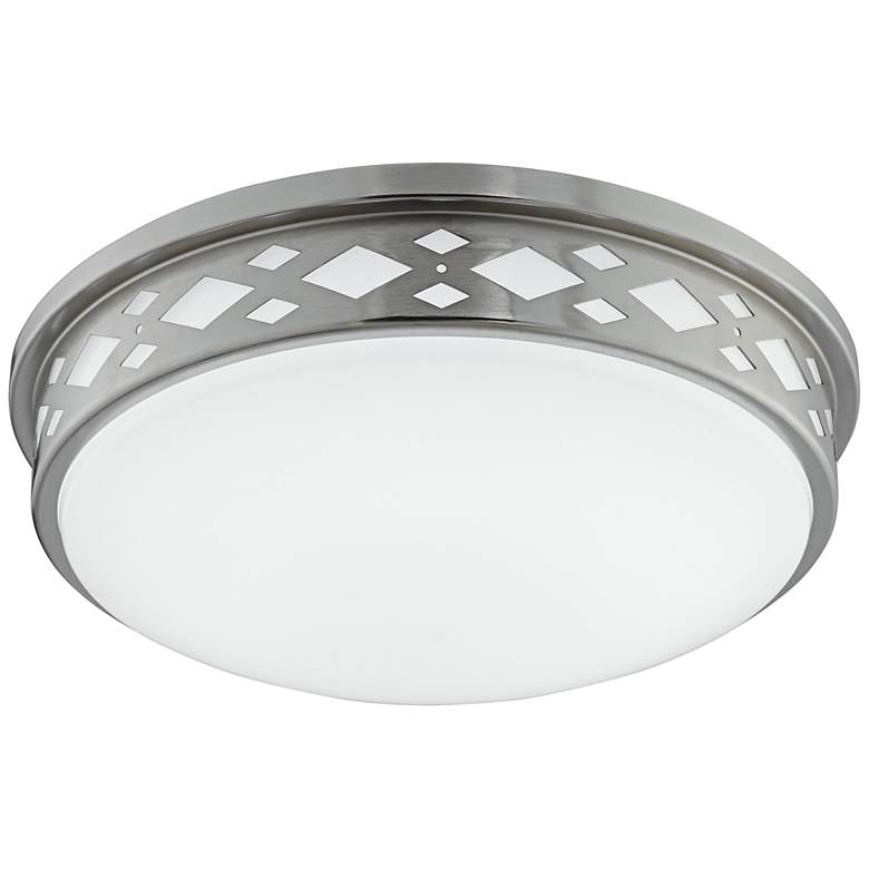 "Fitzgerald 14""W Brushed Nickel Diamond LED Ceiling Light"