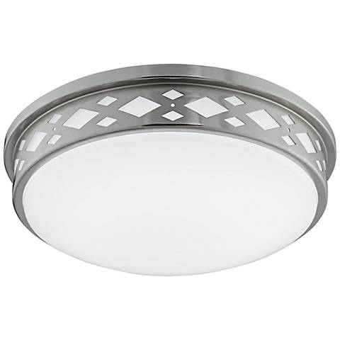 "Fitzgerald 14""W Brushed Nickel Diamond LED Ceiling Light"